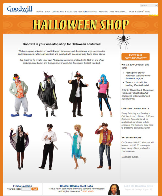 Halloween Sale Web Page