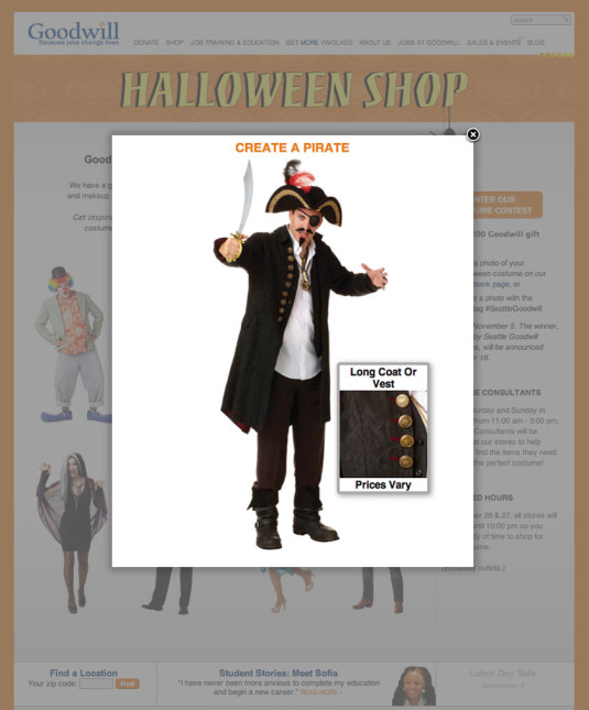 Halloween Sale Costume Pop-Up