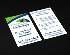 Health Insurance Exchange Business Card