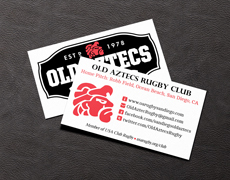 Rugby Recruiting Card