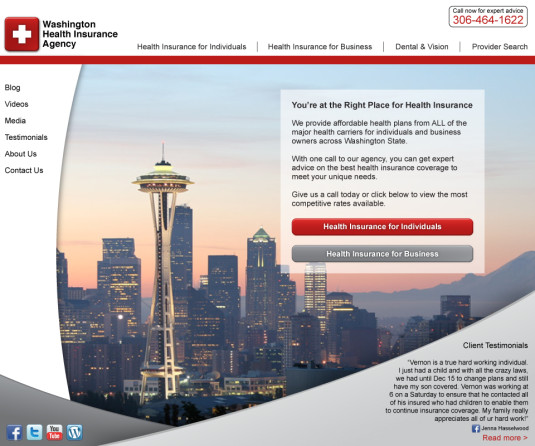 Washington Health Insurance Agency Home Page